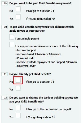 alocatie copil anglia completare formular 12