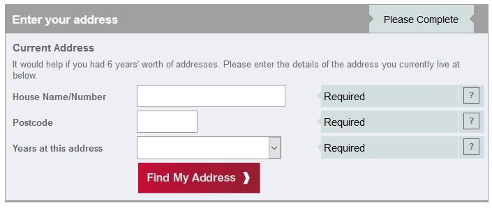 verifici credit score completeaza adresa