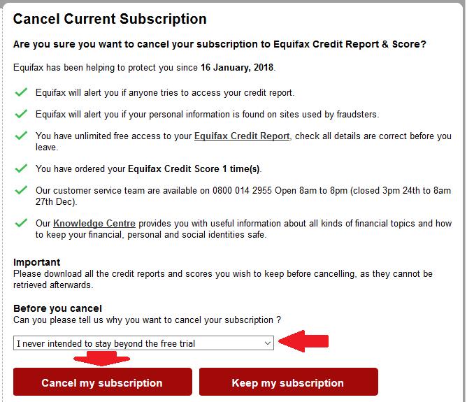 verifici credit score cum dai cancel online.click pe buton sau alege intrebare din lista si click pe buton