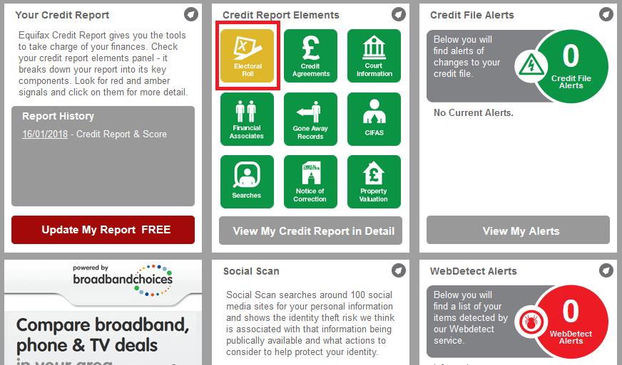 verifici credit score mai jos ai elemente din credit report. e bine sa fie verzi. daca nu, click pe ele