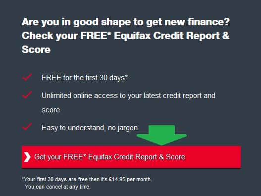 verifici credit score prima pagina, click pe buton