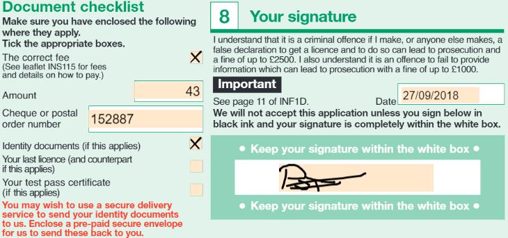 permis provizoriu uk completare aplicatie 10